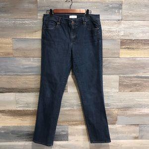 Loft modern straight dark wash jeans 12/31